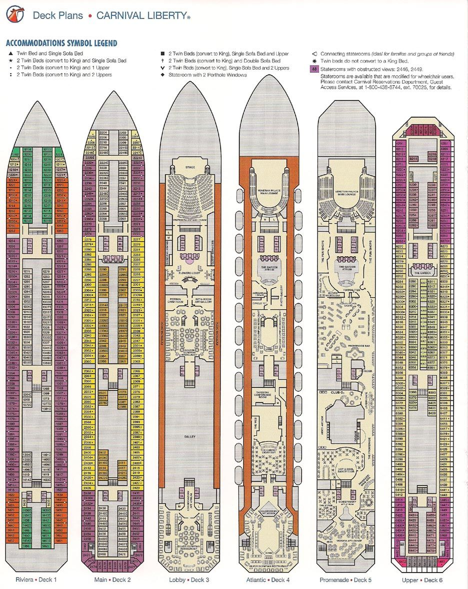 Carnival Liberty Deck Plan Cruising In 2019 Pinterest