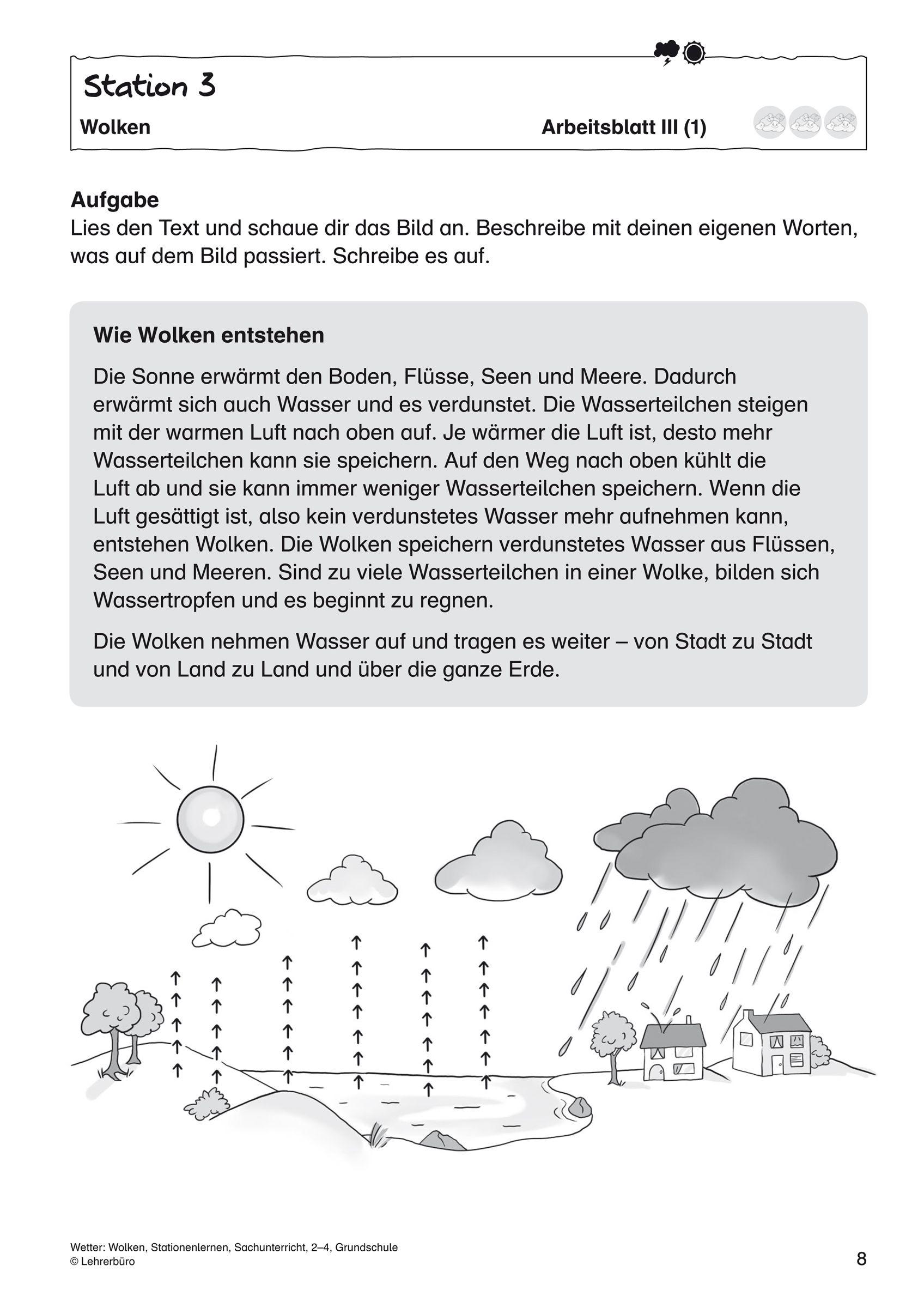 Fancy Wolken Und Niederschlag Arbeitsblatt Picture Collection ...