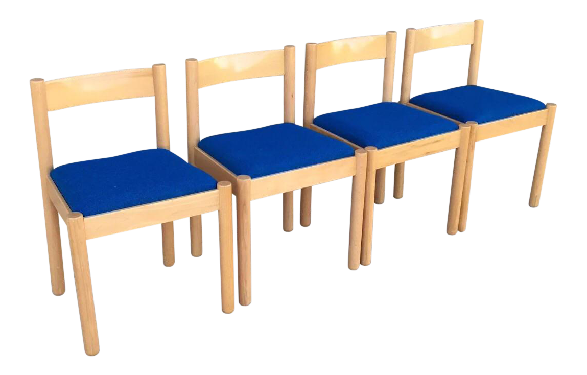 Miraculous Vintage Danish Modern Beechwood Dining Chairs Set Of 4 On Pabps2019 Chair Design Images Pabps2019Com