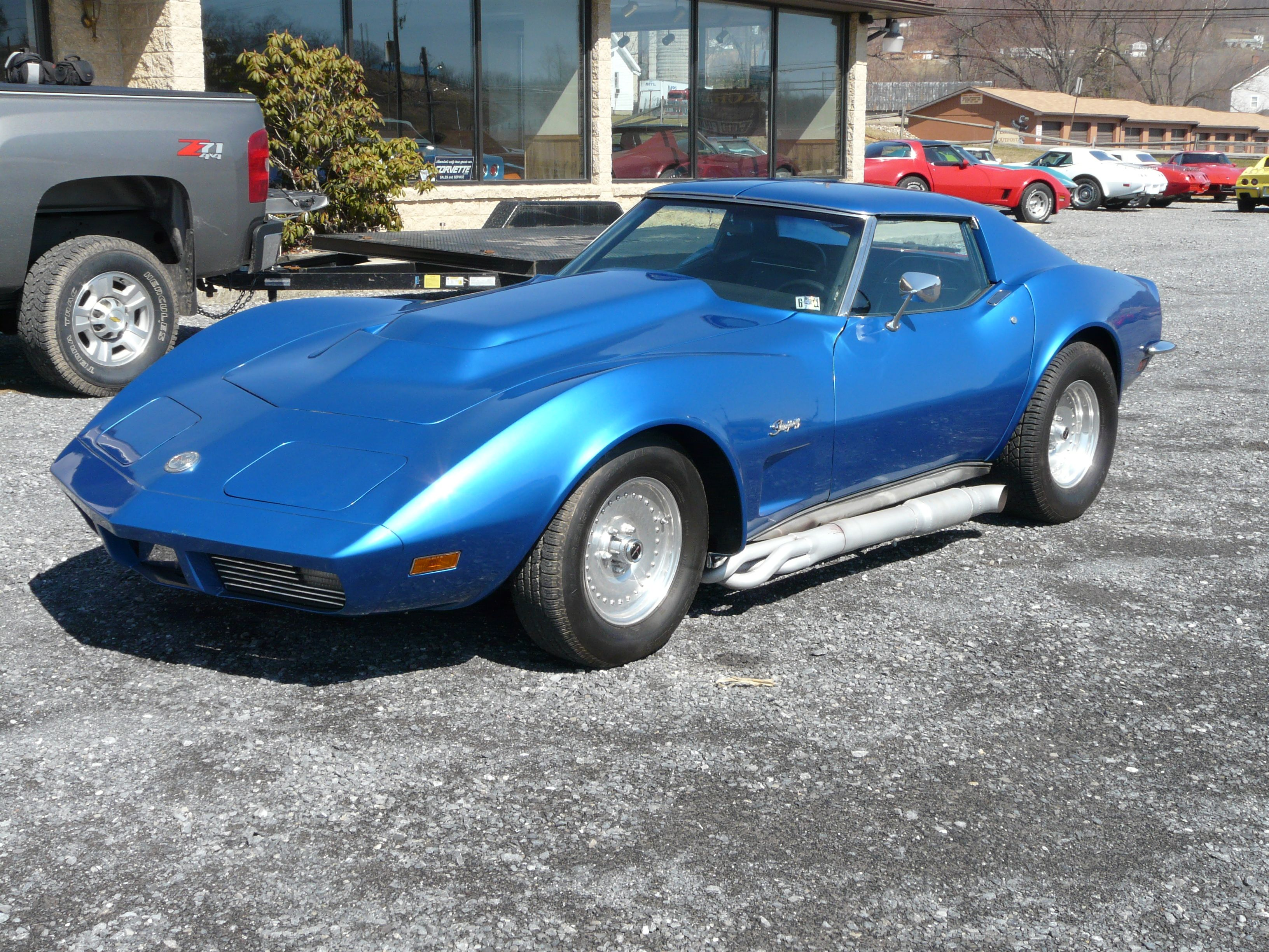1973 Blue Corvette T Top Stingray Hot Rod -- Classic C3