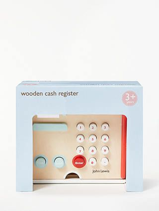 John Lewis & Partners Wooden Cash Register