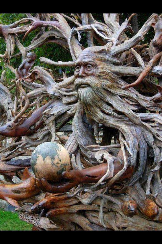 Wood Garden Art   Wood Art