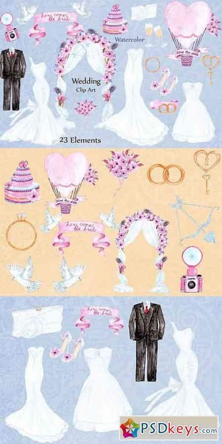 سكرابز صور زواج سكرابز عرسان للتصميم 2020 450 X 899 67 Watercolor Wedding Dress Dress Clipart Clip Art