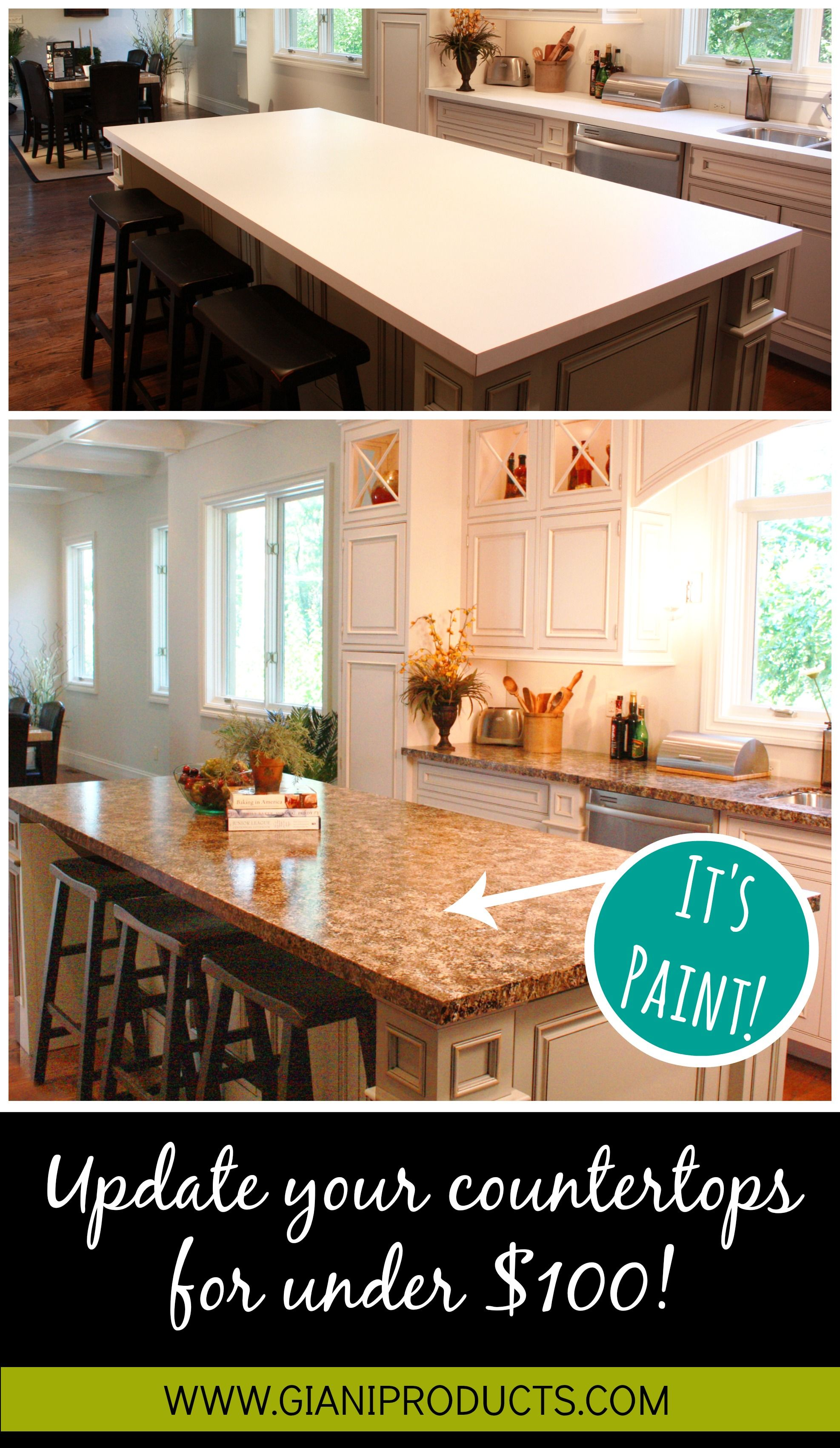 Affordable Countertop Makeover Paint That Looks Like Granite