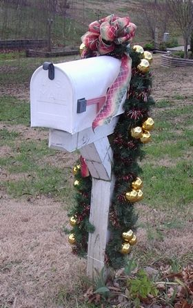 how to make a homemade mailbox christmas holiday decoration