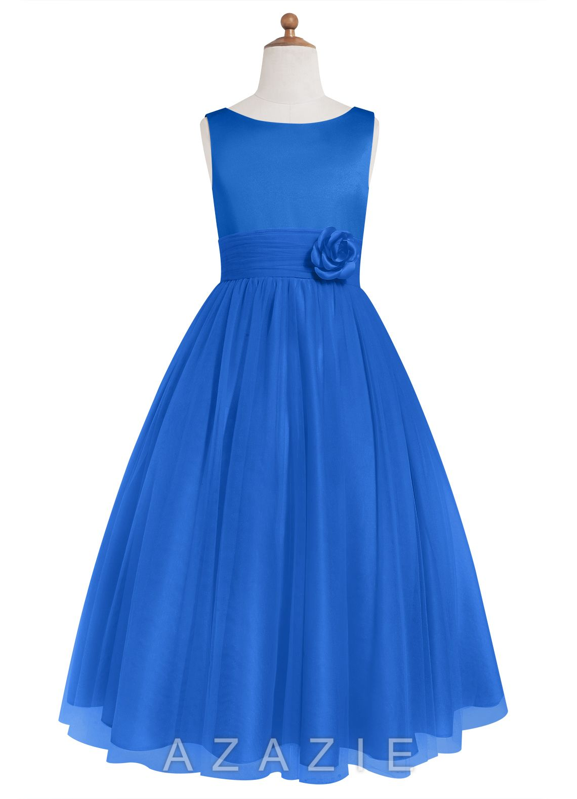 Azazie rudy jbd style rudy jbd by azazie is a tea length a line style rudy jbd by azazie is a tea length a lineprincess bridesmaid dress in an elegant satin and tulle ombrellifo Images