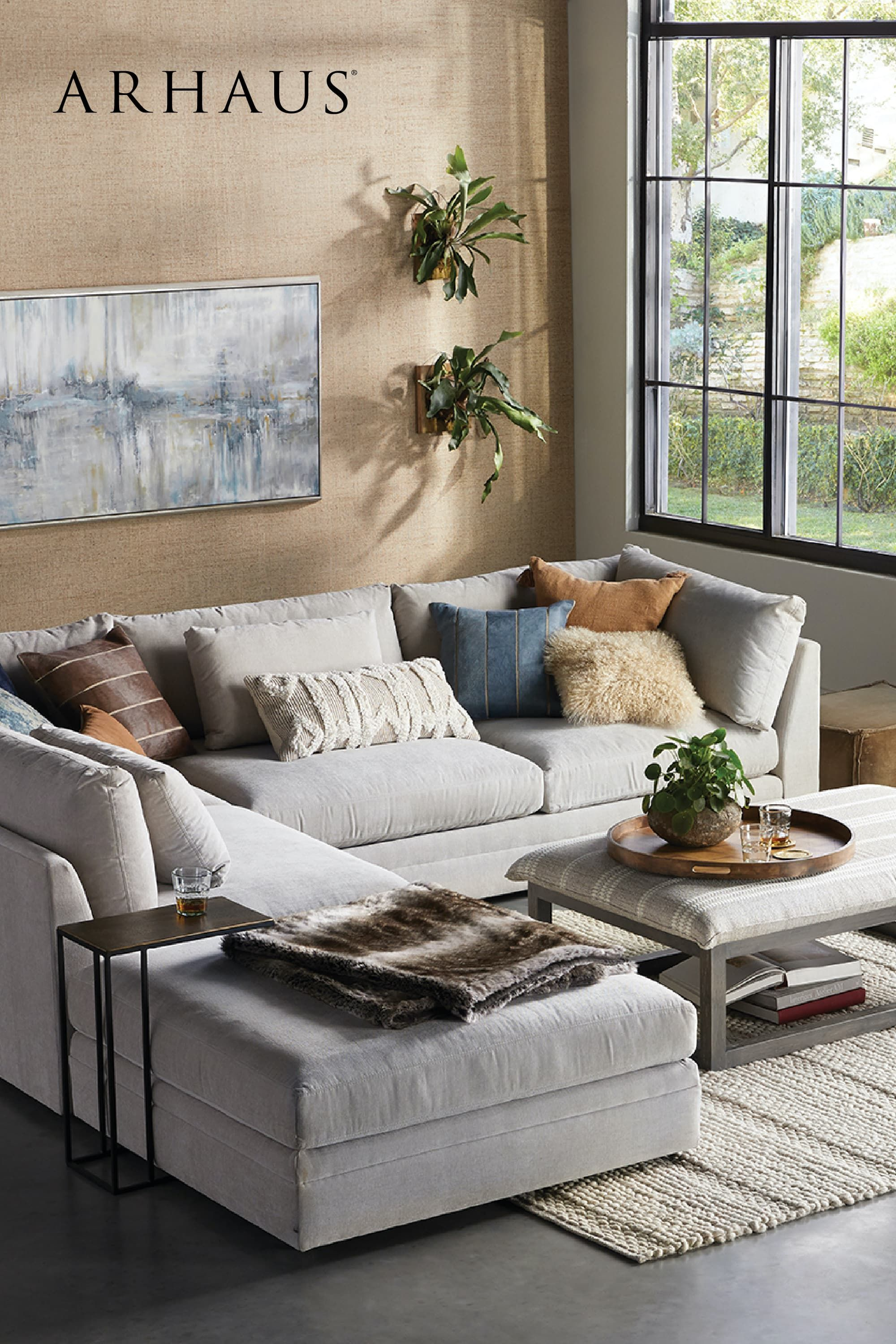 Pin On Arhaus Fall 2020 Issue Tell Your Style Story #urban #farmhouse #living #room