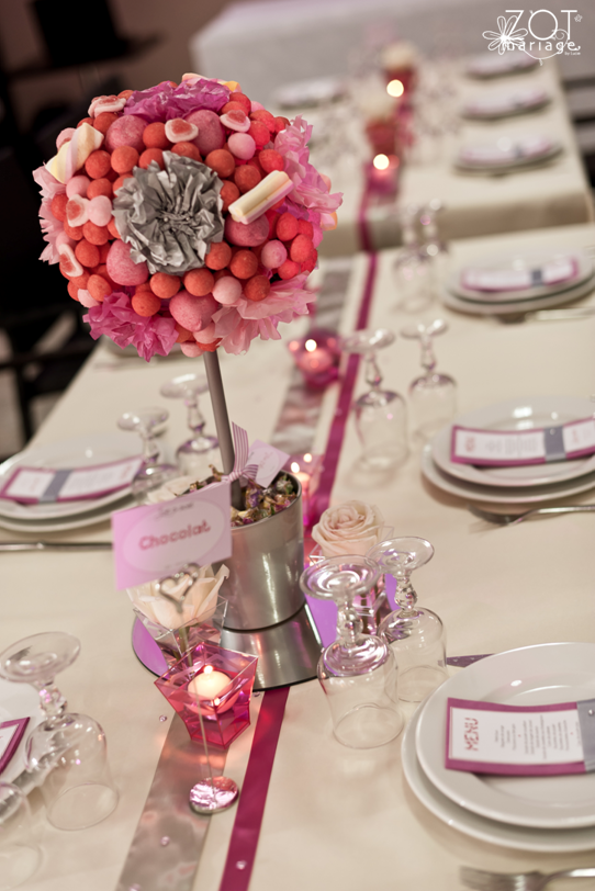 Un bouquet de table en bonbons id es d co pinterest - Deco table gourmandise ...