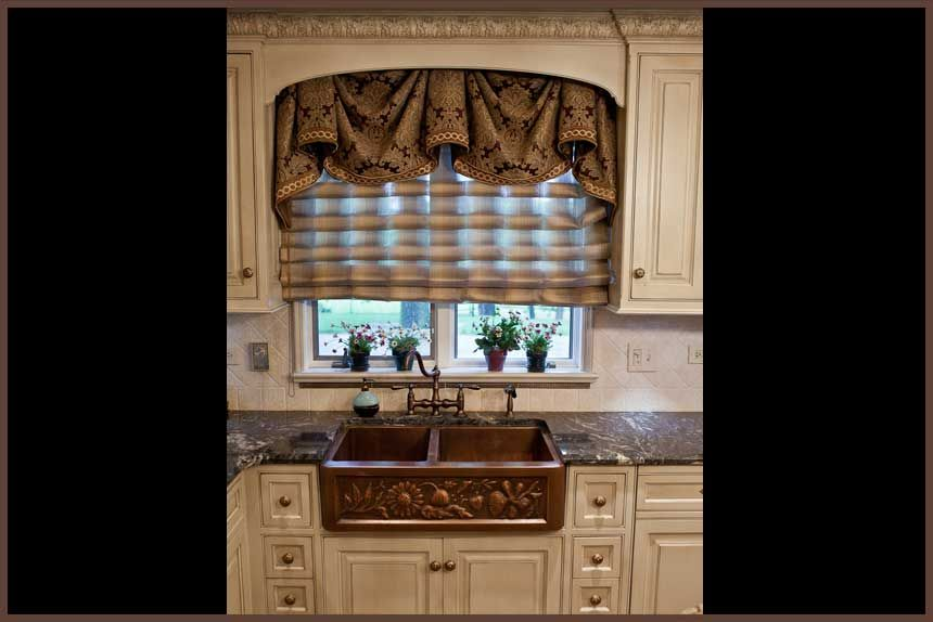 Window treatments for kitchen rustic curtains cabin for Best window treatments for kitchens