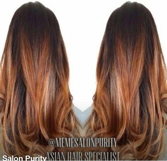 Brown Copper Blonde Balayage Google Search Copper Blonde Balayage Auburn Balayage Hair Color Auburn
