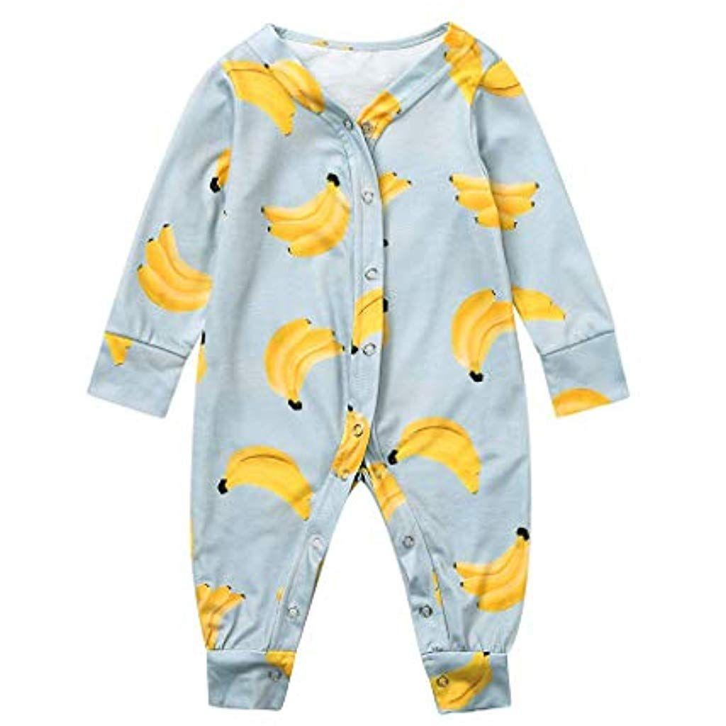 foto de LABIUO Combinaison Bébé Garçons Filles Automne Hiver Pyjama ...