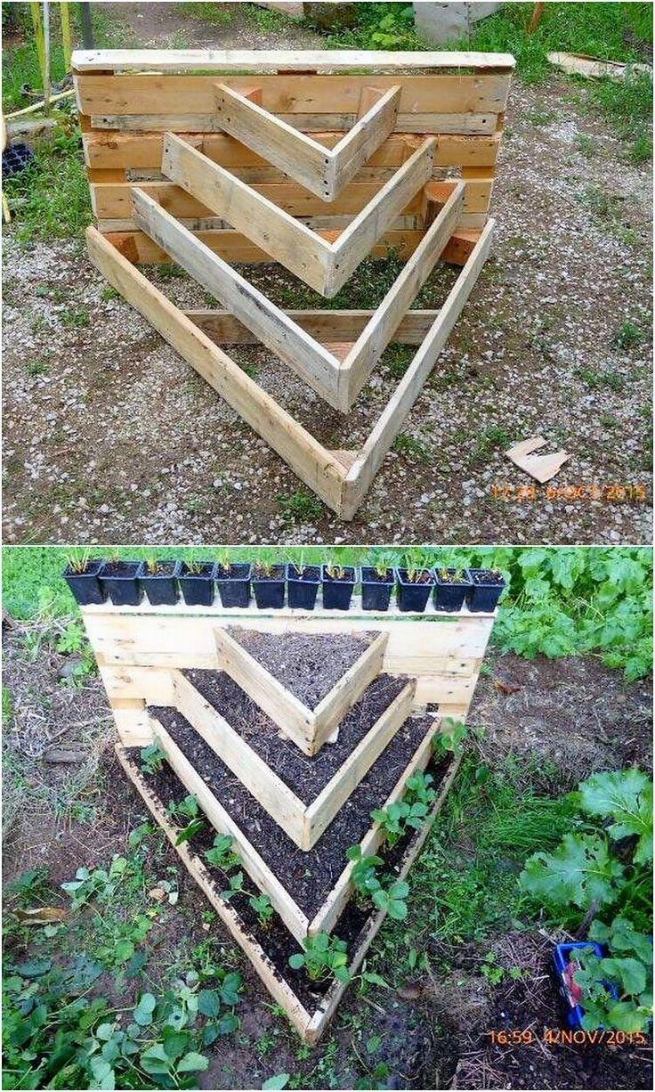 Idées gracieuses avec des palettes en bois recyclé | jardin | Jardin ...