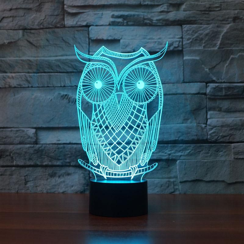 3d Illusion Owl Led Night Light Owl Night Light 3d Led Lamp Led Lamp