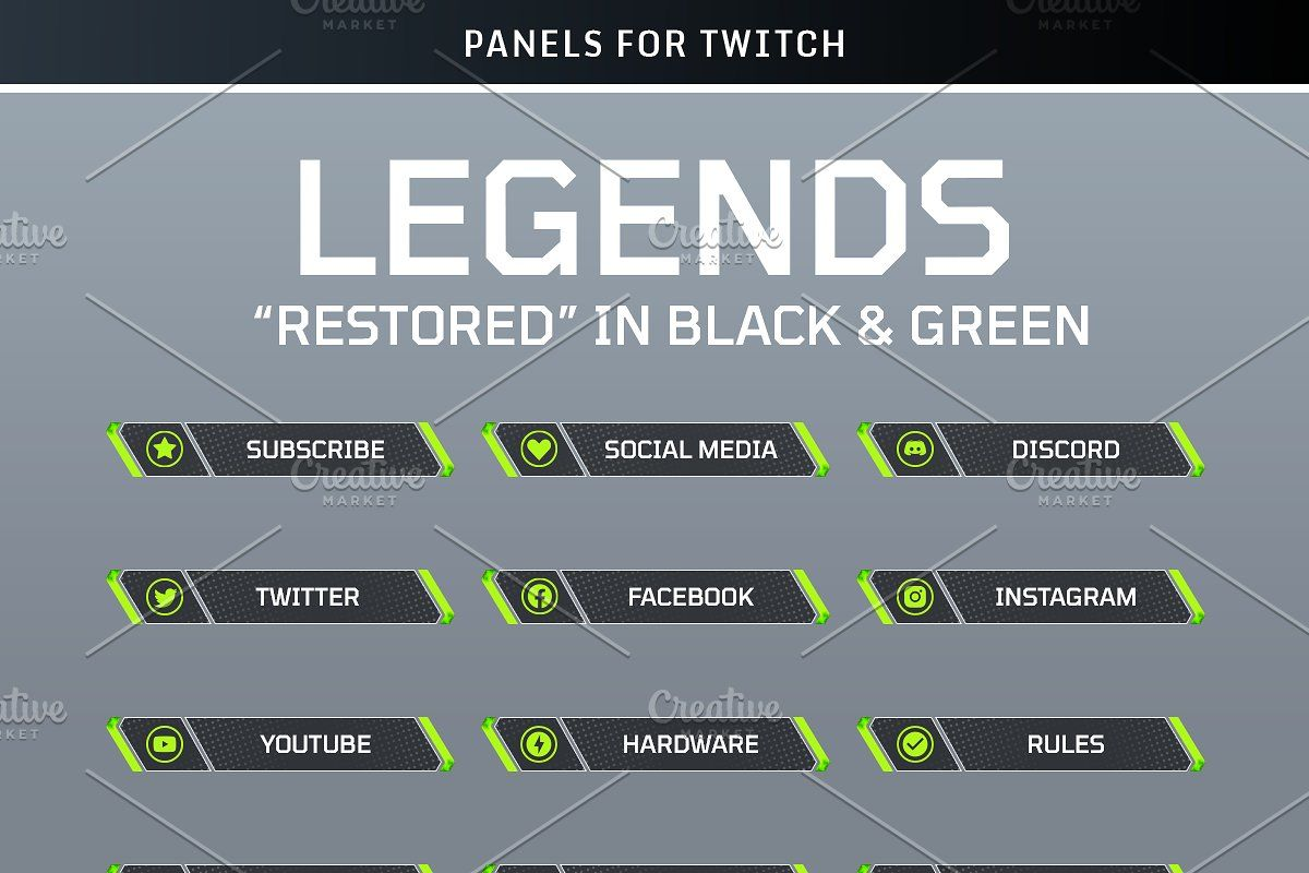 Legends Twitch Panels Green Twitch Classroom Newsletter Template Paneling