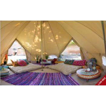 4m Sandstone Canvas Bell Tent Single Door In 2020 Tent Living Boutique Camping Bell Tent Camping