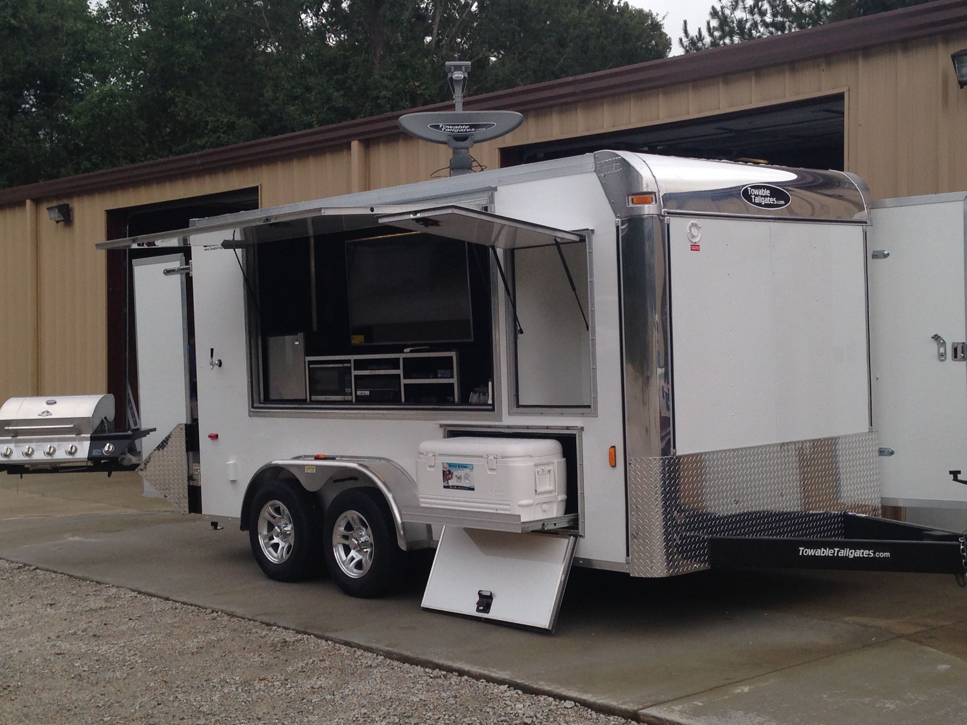 Check out our tailgate trailers that are available to rent