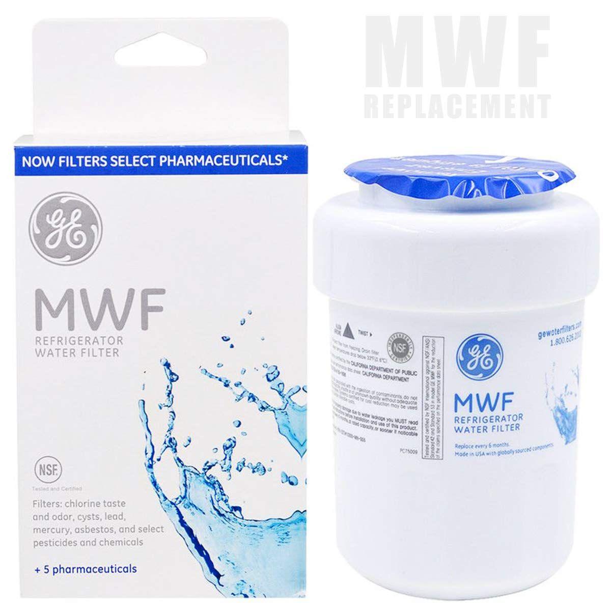 Ge Mwf Smart Refrigerator Water Filter Cartridge Ebulous Replacement Water Filter 1 Pack Mensw Refrigerator Water Filter Water Filter Cartridge Water Filter