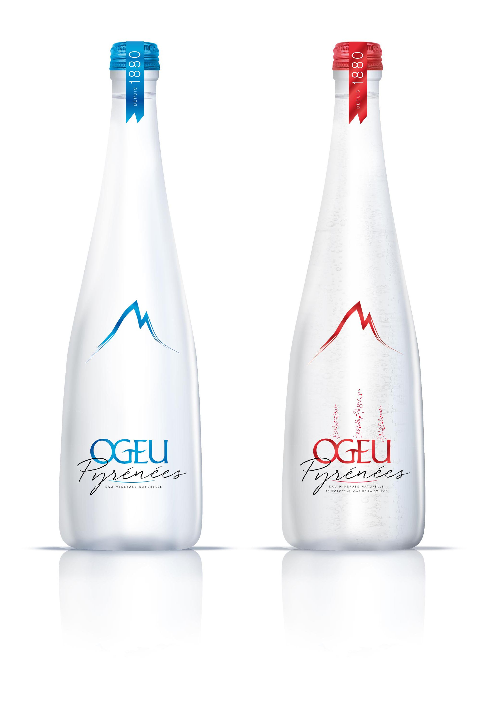 ogeu créé une bouteille verre pour être proposée aux tables des plus
