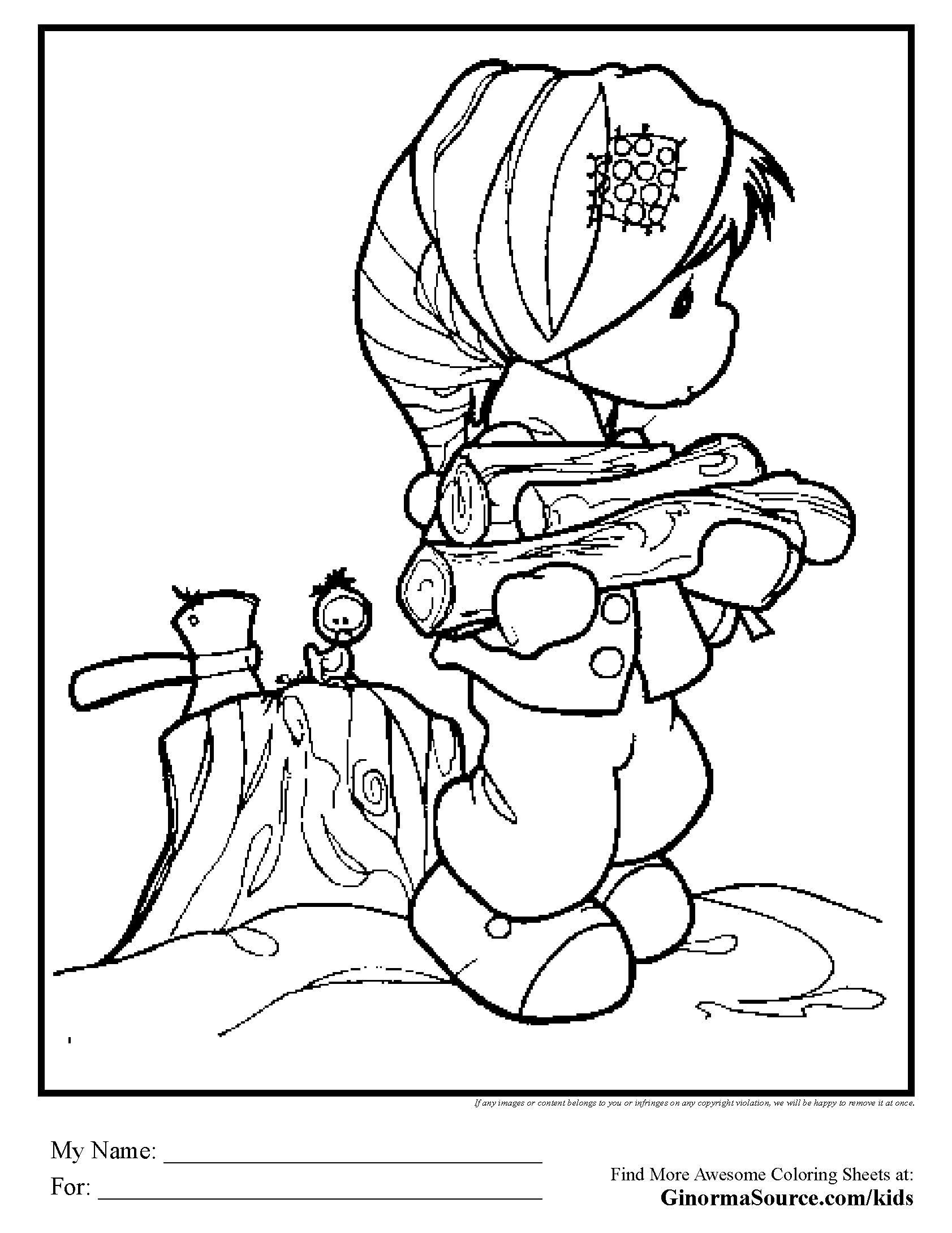 Precious Moments Lumberjack Minnesota Snow Coloring Page Free Download