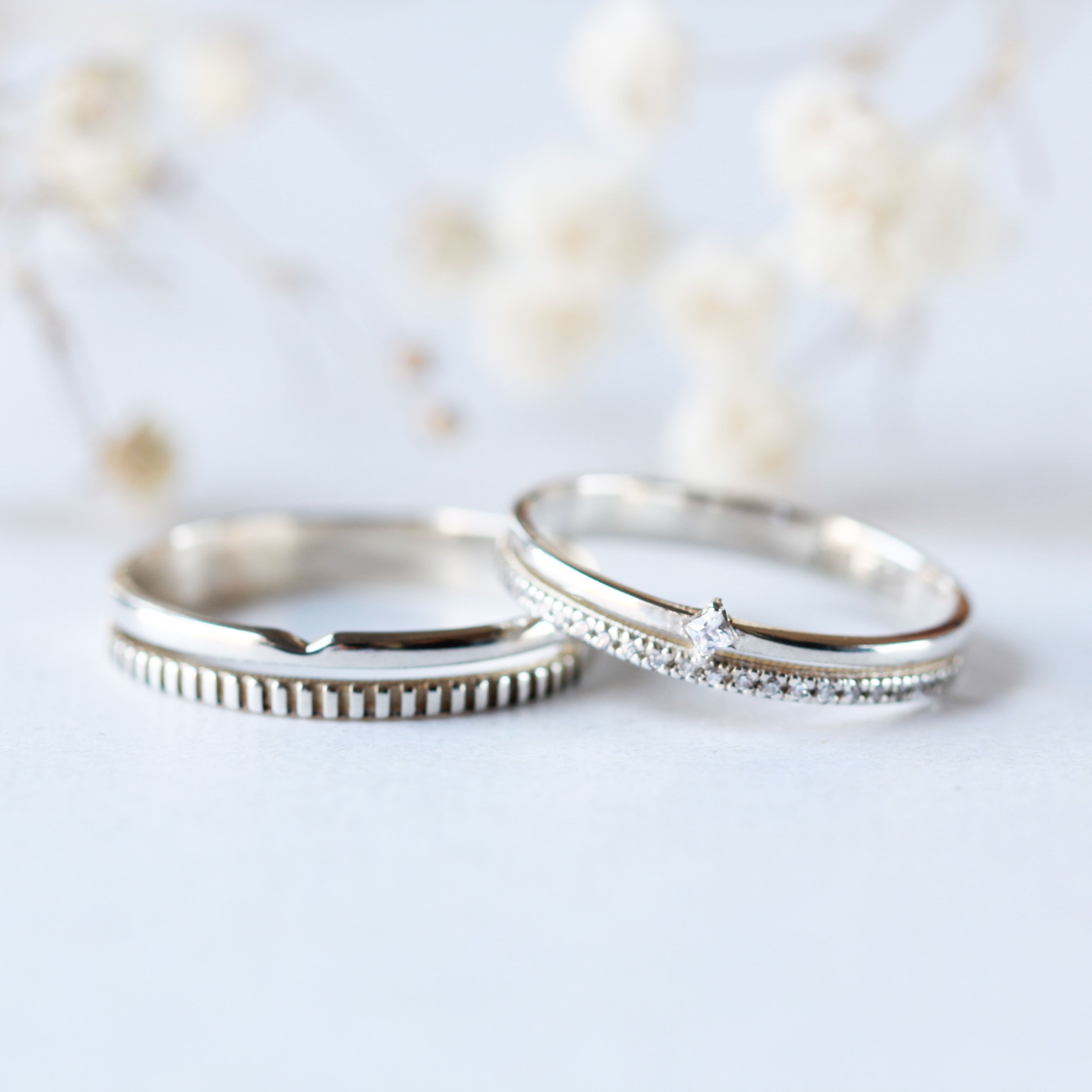 Geometric Wedding Band Alternative Wedding Ring Simple His And Hers Ring Promise Ring Couple Ri Couple Wedding Rings Couples Ring Set Alternative Wedding Rings