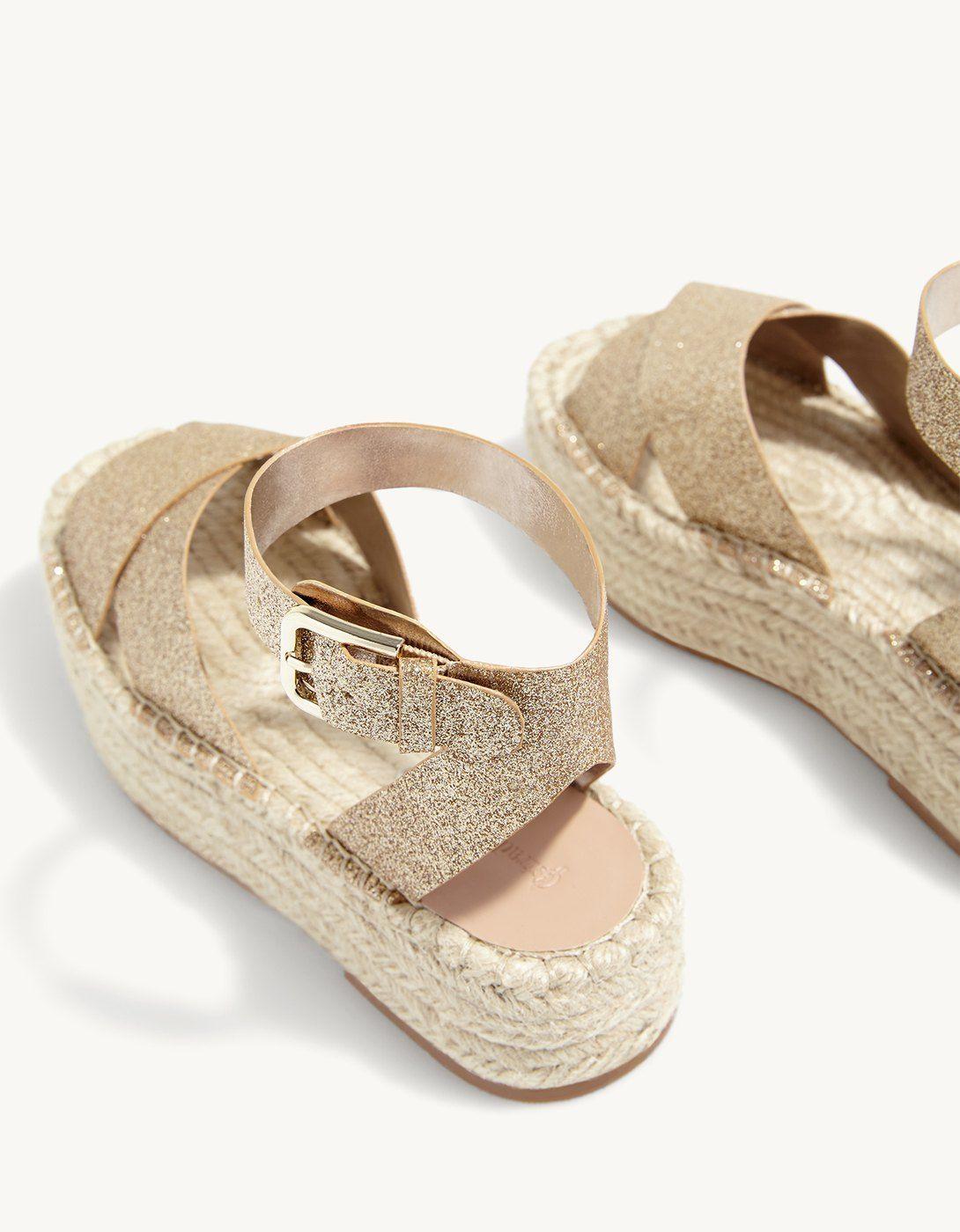 8f0f7c4d698 Glitter flatform sandals - Just in
