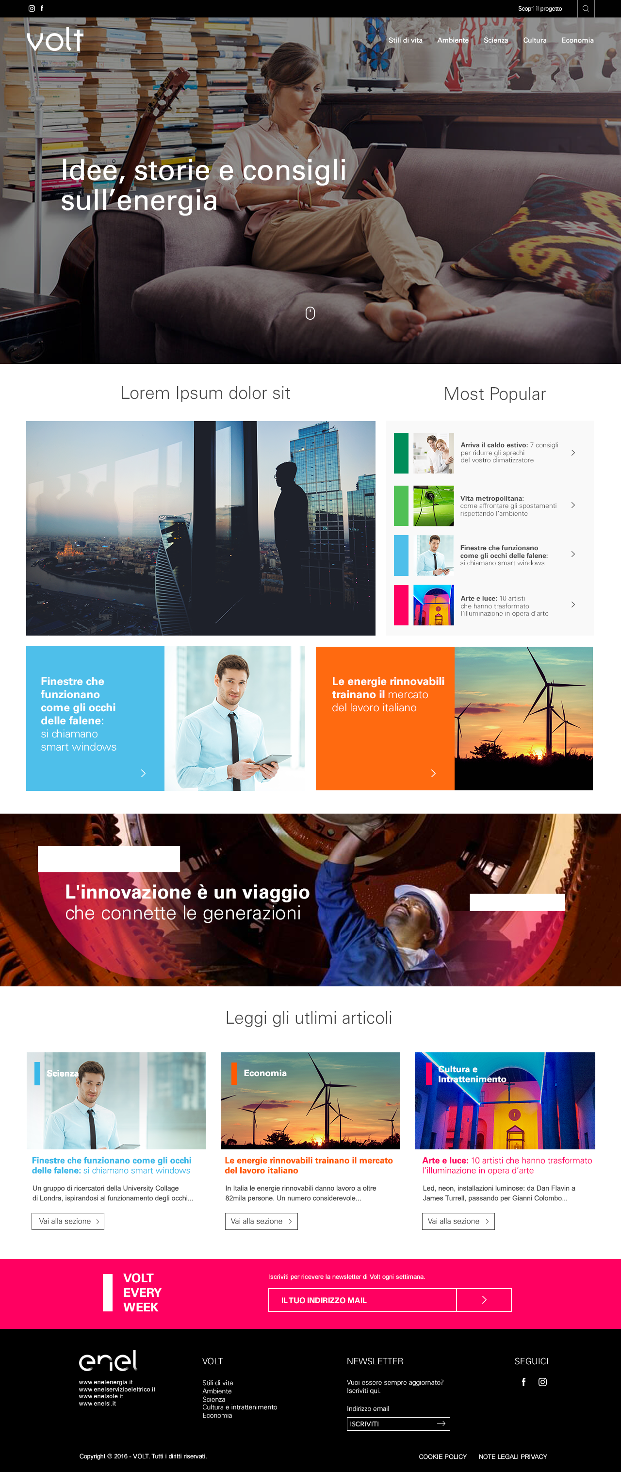 Home page | Gara Enel magazine online | Agency: We Are Social ...