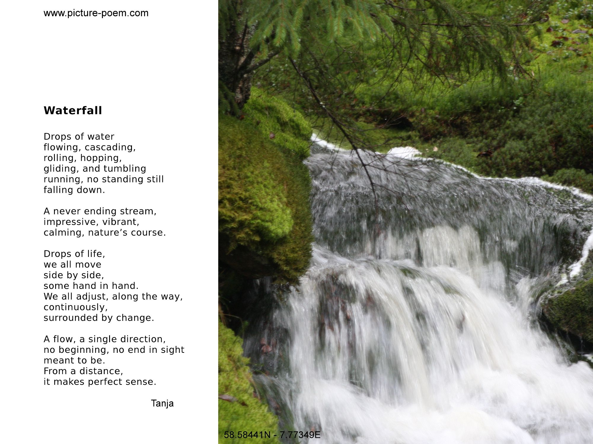 Water Fall Poems 3
