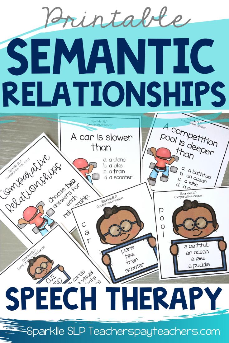 Semantic Relationships For Speech Therapy Word Relationships Speech Therapy Materials Relationship Activities [ 1102 x 735 Pixel ]