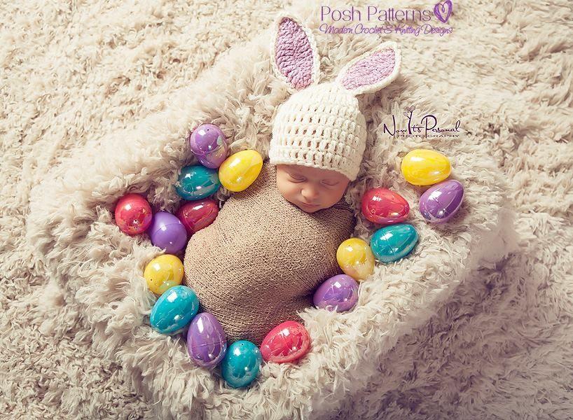 Crochet PATTERN - Crochet Bunny Hat Pattern