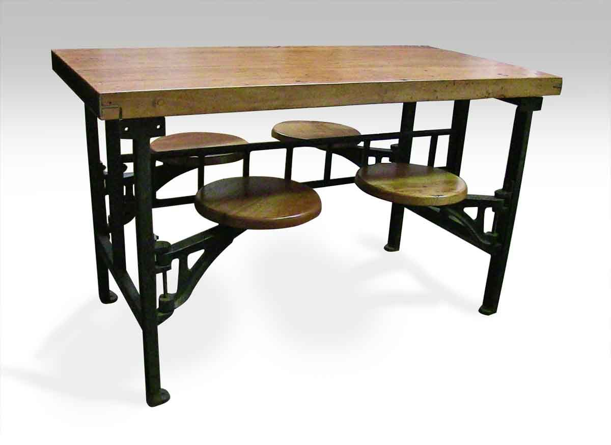 Swing Swivel Chair Industrial Factory Table Compact Table And Chairs Table Cafeteria Table