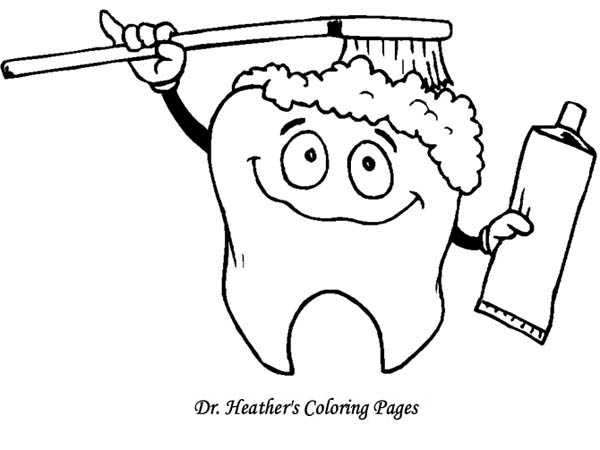 Tooth Brushing Himself At Dentist Coloring Pages Bulk Color Coloring Pages Coloring For Kids Coloring Pictures For Kids