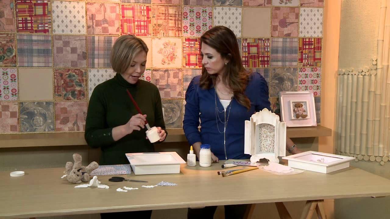Vida Melhor - Artesanato: Quadro em Decupagem de Tecido