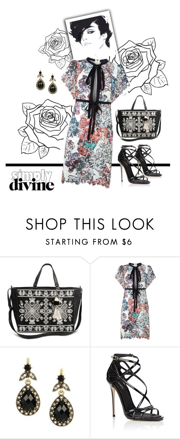 """""""Divine in flowers"""" by fernshadowstudio-com ❤ liked on Polyvore featuring Mossimo Supply Co., Elie Saab and Dolce&Gabbana"""