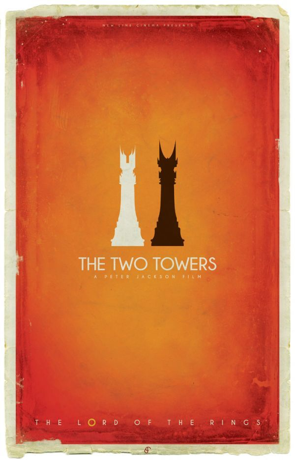 LOTR - alternative movie posters - Patrick Connan - TwoTowers