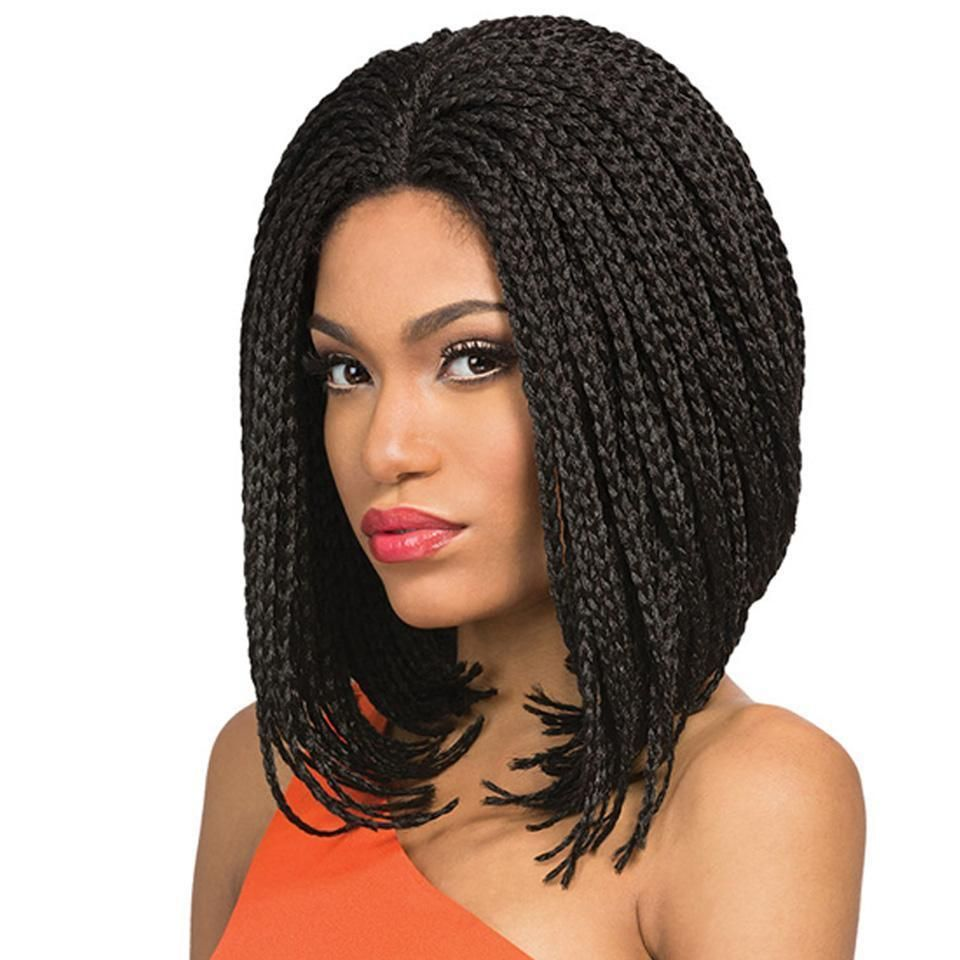 Synthetic lace front box braid wig for black women in hair