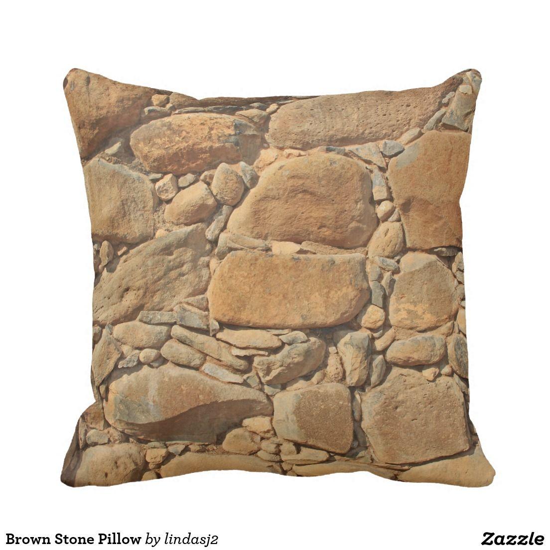 Brown stone pillow throw pillows brick