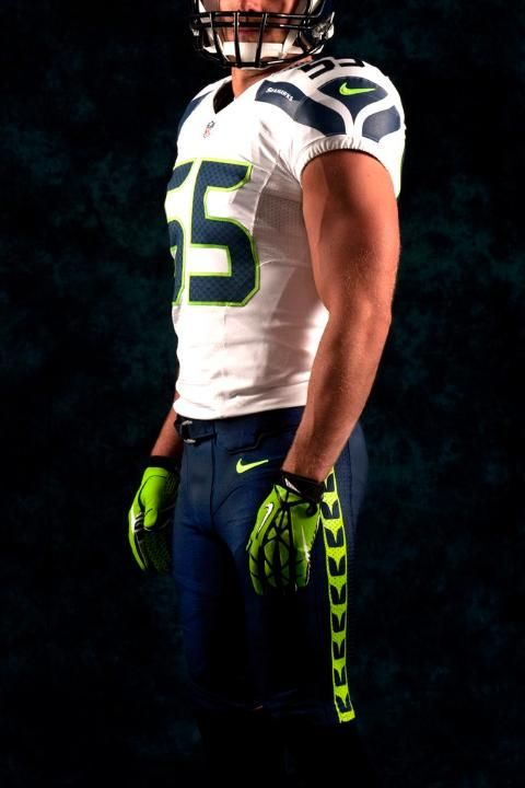 46b730e9791d64 Redesigned Seattle Seahawks uniforms -- white jersey, dark blue pants