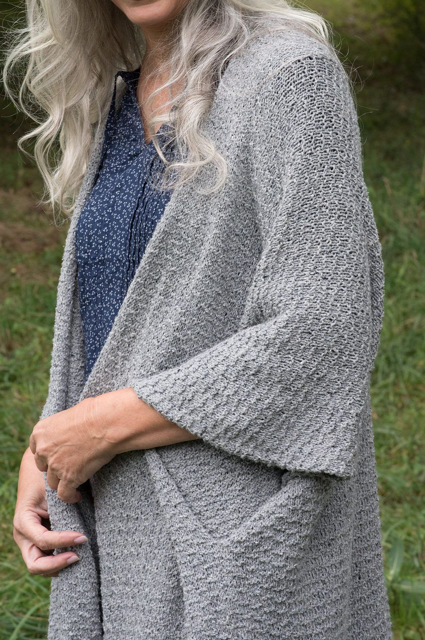Knitting Pattern for Sirocco Cardigan - Ruana with wide ...