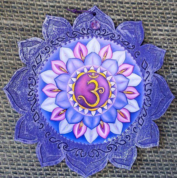 Crown Chakra Chakra Wall Hanging 7th Chakra Sahasrara Plaque Purple