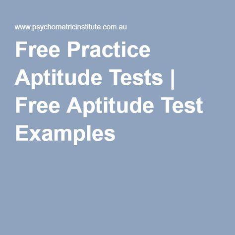 Free Practice Aptitude Tests | Free Aptitude Test Examples ...