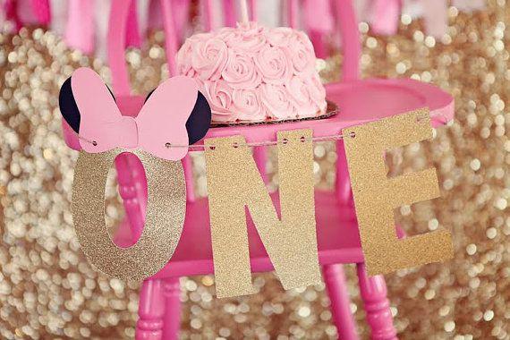 One banner,Minnie highchair banner,Minnie high chair banner,winter Minnie banner,Minnie party,Minnie birthday decor,Minnie first birthday