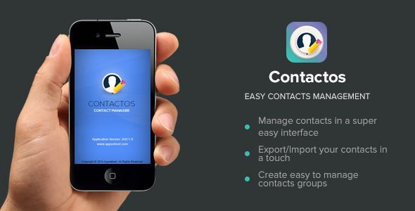 Contactos - Contact Management iOS App iOS apps Pinterest iOS