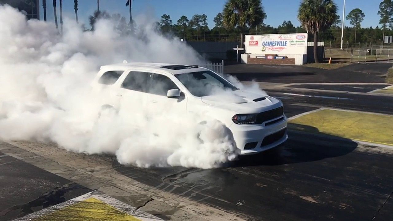 The Track Inspired Power Of The Durango Srt Burnout Durango Srt Dodge Dodge Durango 2018 Dodge New Dodge Durango