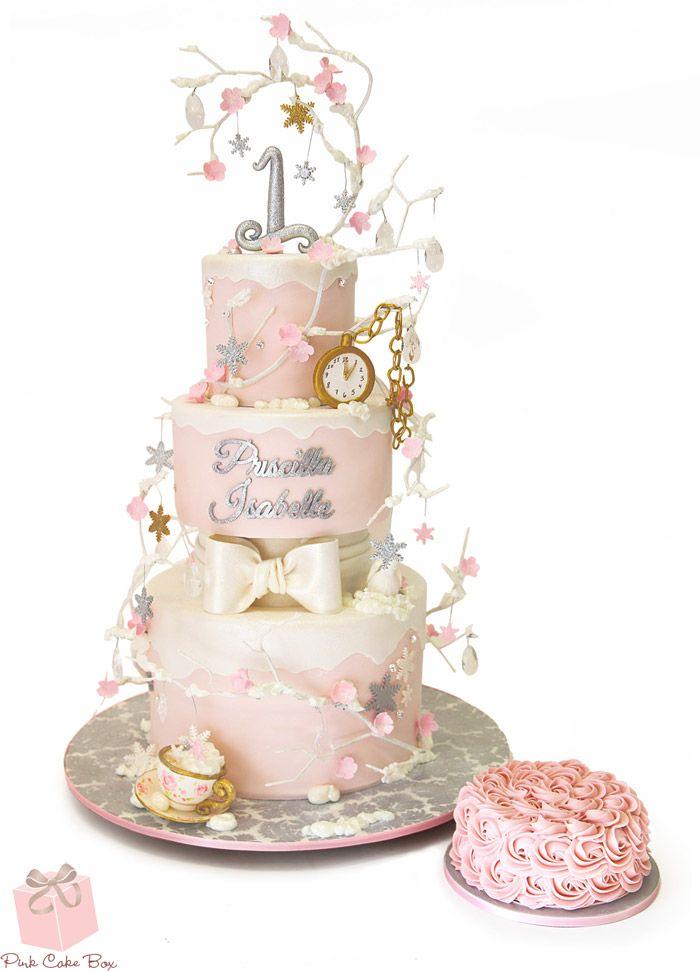 Whimsical Winter Onederland Birthday Cake 187 Celebration