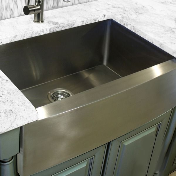 HIGHPOINT COLLECTION Stainless Steel (Silver) 30-inch Farmhouse ...