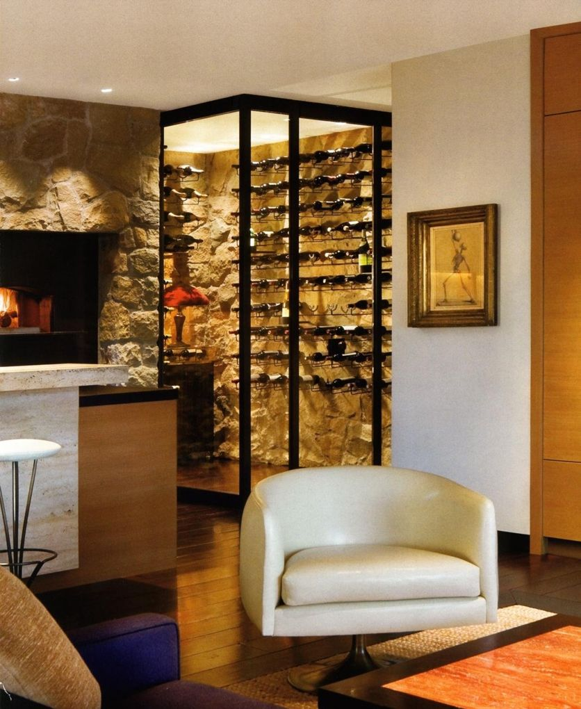 Uncategorized Jennifer Aniston Home Decor ahh that wine wall love it home inspiration pinterest jennifer anistons a pizza oven and room are featured in the kitchen travertine bar separates from sitting area