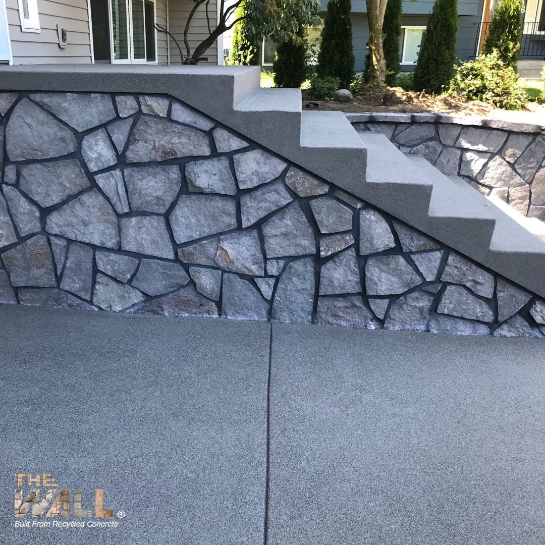 Recycled Concrete Stairs Architecture Staircase Home Inspiration Homedesign Concrete Stairs Concrete Retaining Walls Recycled Concrete