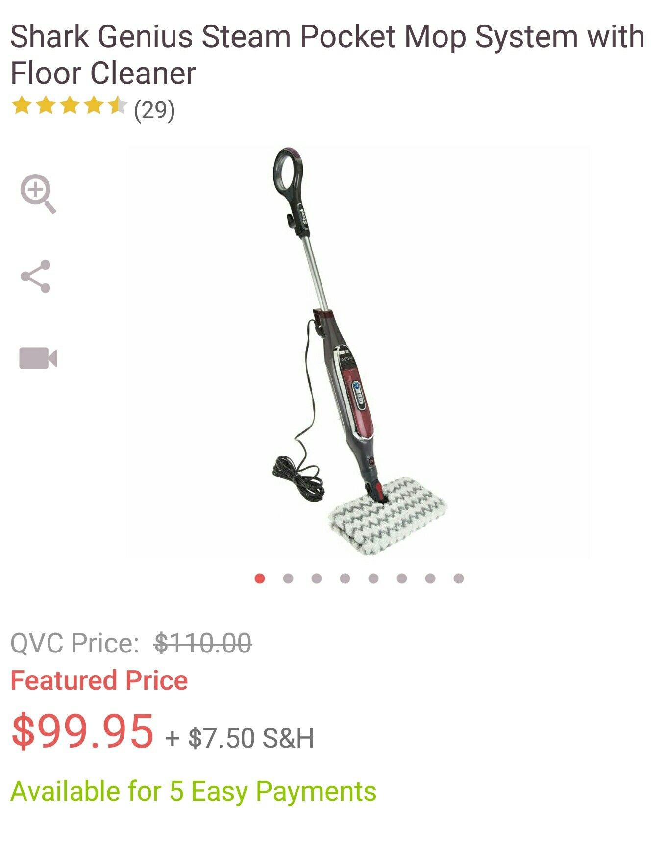 Shark Genius floor steam cleaner from the Q! photo credit