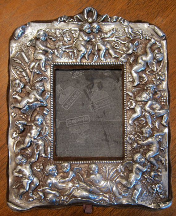 London Sterling Silver Cherub Picture Frame By Primitivemodern