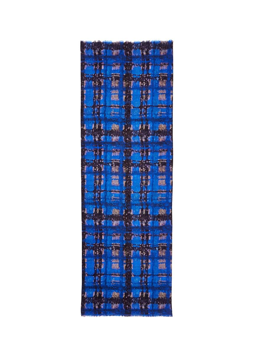 LOVE THIS! FRANCO FERRARI - Tie dye silk and wool double face loop scarf | Blue Cashmere/Wool Scarves & Wraps | Womenswear | Lane Crawford - Shop Designer Brands Online